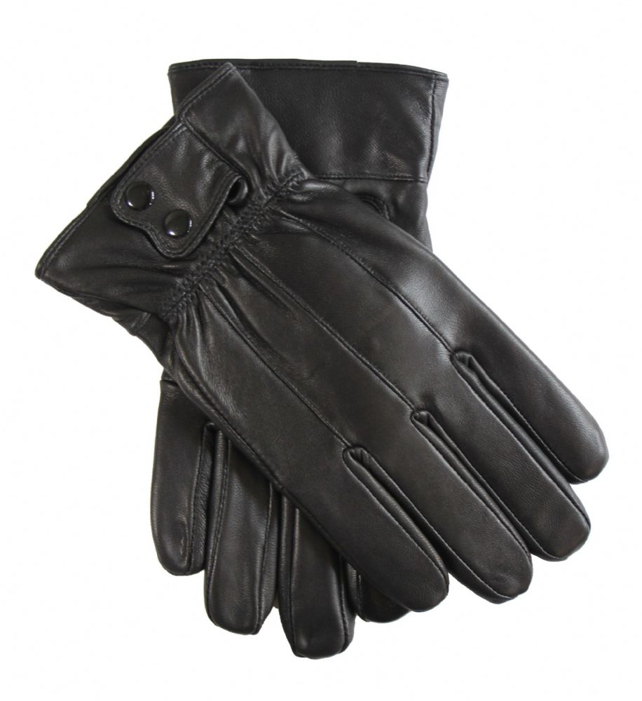 Mens genuine leather dress winter touch gloves